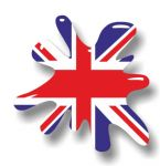 New SPLAT Design With Union Jack British Flag Motif External Vinyl Car Sticker 110x110mm